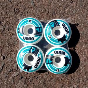 Roda Unno 53mm | Branco e Verde